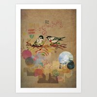 Two Little Birds Art Print
