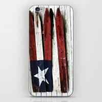 The Grand Ol' Wooden Flag iPhone & iPod Skin