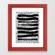 Iver - Black And White M… Framed Art Print