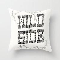 Wild side Throw Pillow