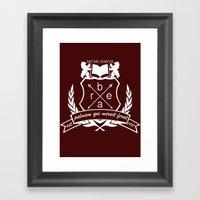 Academic Crest Framed Art Print