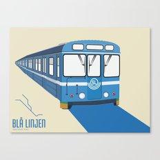 Blå linjen Canvas Print