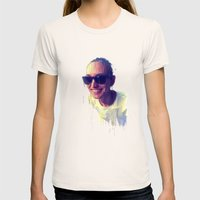 Fantasy portrait Womens Fitted Tee Natural SMALL