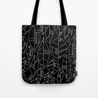 MCM Autumn Leaves B&W Tote Bag