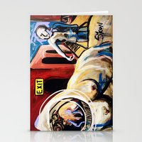 Exit Stage Left Stationery Cards