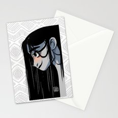 Black hair Stationery Cards