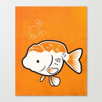 Ranchu Goldfish Canvas Print