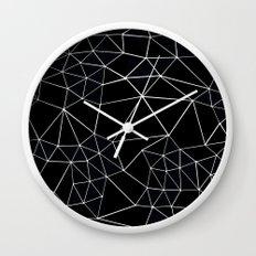 Segment Zoom Black and White Wall Clock