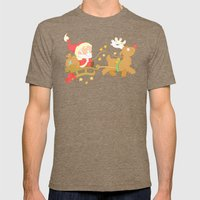 Santa 2014 Mens Fitted Tee Tri-Coffee SMALL