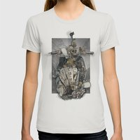 CROSS ENGINE Womens Fitted Tee Silver SMALL