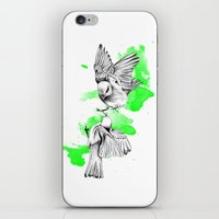 Green Birdies iPhone & iPod Skin