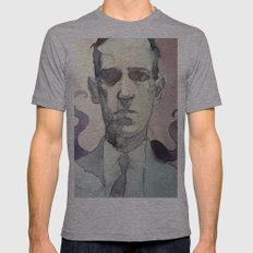 LOVECRAFT Mens Fitted Tee Athletic Grey SMALL