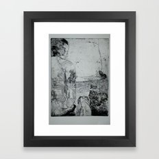 A Man and a Dog Framed Art Print