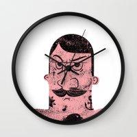 The Tattooed Man Wall Clock