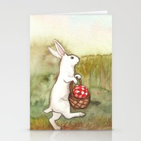 On the Way to the Picnic Stationery Cards