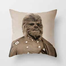 Portrait of Sir Chewie Throw Pillow