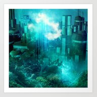 Art Print featuring Underwater World by Nicky2342
