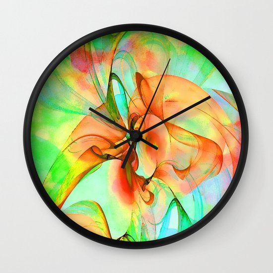 Dancing Veil 4 Wall Clock