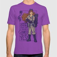 Ghostbuster Goddess Mens Fitted Tee Ultraviolet X-LARGE