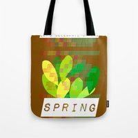 Tote Bag featuring Celebrate Spring by Inspire me Print