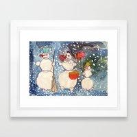 Frozen Family Framed Art Print