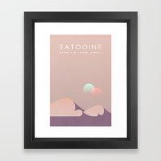 Outer Rim Travel Bureau: Tatooine Framed Art Print