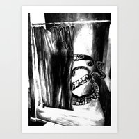 Some(thing)one In The Shower Art Print