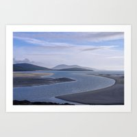 Seaside Blues Art Print