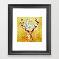 Spirit Stag Framed Art Print