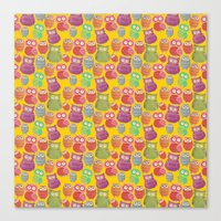 Bright Owls Canvas Print