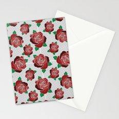 rose & dots pattern Stationery Cards