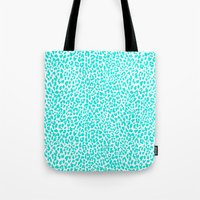 Turquoise Leopard Tote Bag