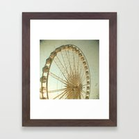 Golden Wheel Framed Art Print