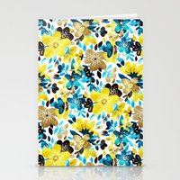 Happy Yellow Flower Collage Stationery Cards