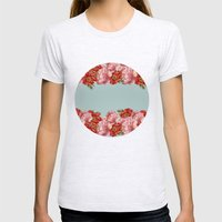 vintage floral Womens Fitted Tee Ash Grey SMALL