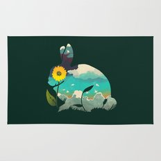 Rabbit Sky - (Forest Green) Rug