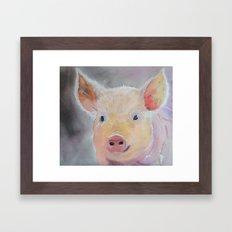 Lilly's Pig Framed Art Print
