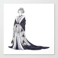 Yuki Onna Canvas Print