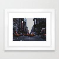 New York Traffic Framed Art Print