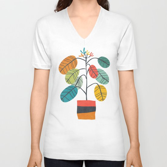 Potted plant 2 V-neck T-shirt