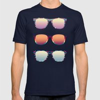 PUT YOUR GLASSES ON ...  Mens Fitted Tee Navy SMALL