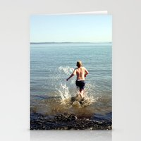 Into the drink Stationery Cards