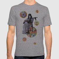 Guitarist in Time Mens Fitted Tee Athletic Grey SMALL