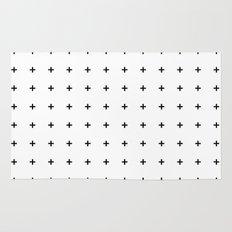 Black Plus on White /// www.pencilmeinstationery.com Rug