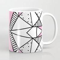 Abstract Spots and Stripes Pink Mug