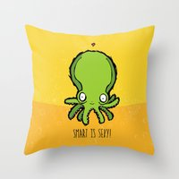 Smart Is Sexy Throw Pillow