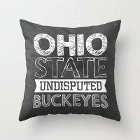 Undisputed Buckeyes Throw Pillow