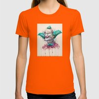 Krusty Womens Fitted Tee Orange SMALL