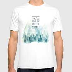 You´ll find me in the forest Mens Fitted Tee White SMALL