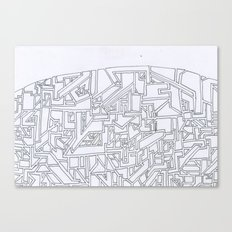 Costal City Canvas Print